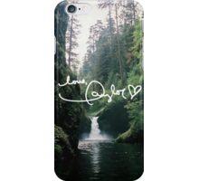 LOVE, TAYLOR waterfall scenery iPhone Case/Skin