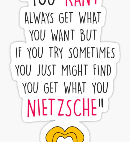 Hedwig, Kant & Nietzsche Sticker