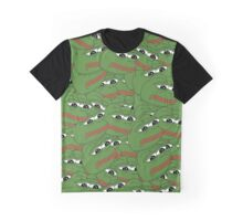 PEPE ALLOVER PATTERN SAD FROG MEME Graphic T-Shirt