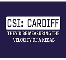 CSI Cardiff Photographic Print