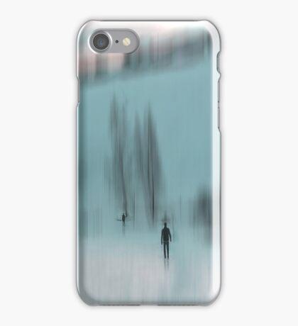 Winter Walk (blue), Fischbacher Alps, Austria iPhone Case/Skin