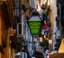 Cafe in a Dubrovnik Alley Sticker