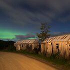 Picker's Huts and Aurora Australis, Huon Valley by NickMonk