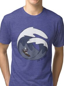 Dark Sea Panic  - Ukulele In The Storm Tri-blend T-Shirt