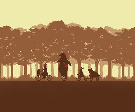 Biking with Friends by pigboom
