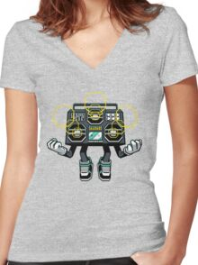 Rise And Amplify Women's Fitted V-Neck T-Shirt