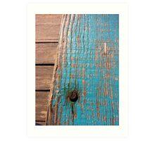 Rusty timber Art Print