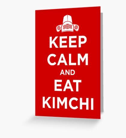Keep Calm and Eat Kimchi Greeting Card