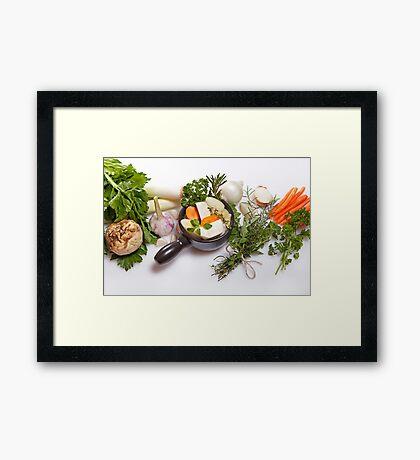 vegetable soup Framed Print