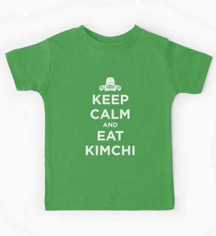 Keep Calm and Eat Kimchi Kids Tee