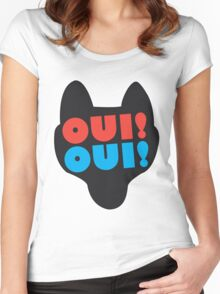 Oui Oui Wolf Women's Fitted Scoop T-Shirt