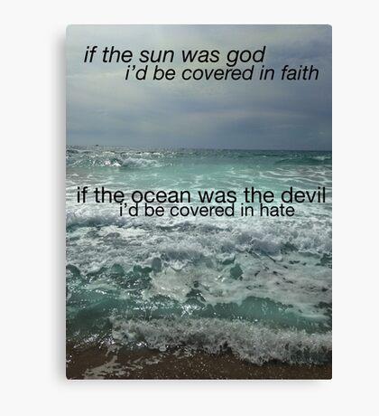 Sun And Ocean Canvas Print