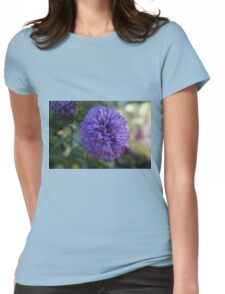 Purple flower Macro Womens Fitted T-Shirt