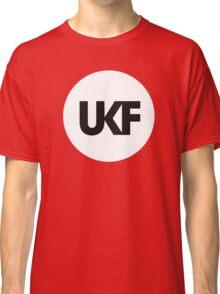 UKF-White and Black Classic T-Shirt