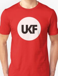 UKF-White and Black Unisex T-Shirt