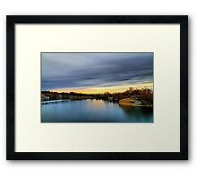 Autumn sunset landscape Framed Print