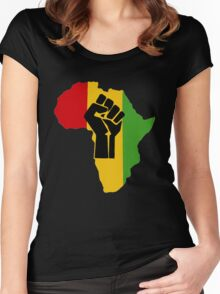 Africa Power Women's Fitted Scoop T-Shirt