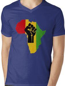 Africa Power Mens V-Neck T-Shirt