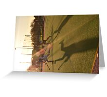 Game in the low sun Greeting Card