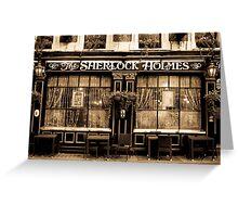The Sherlock Holmes Pub Greeting Card