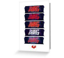 Caskets Comics Logo Greeting Card
