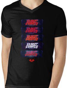 Caskets Comics Logo Mens V-Neck T-Shirt