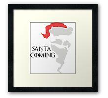 Santa is coming - Game of thrones  Framed Print