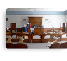 I object!  How is my client supposed to get a fair trial….this is nothing but a kangaroo court!!! Metal Print