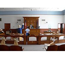 I object!  How is my client supposed to get a fair trial….this is nothing but a kangaroo court!!! Photographic Print