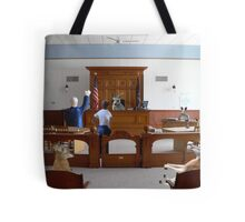 I object!  How is my client supposed to get a fair trial….this is nothing but a kangaroo court!!! Tote Bag