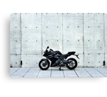 Yamaha Diversion F profile view at a distance Canvas Print
