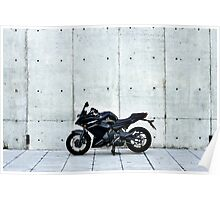 Yamaha Diversion F profile view at a distance Poster