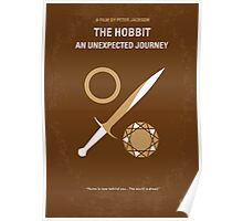No166 My The Hobbit minimal movie poster Poster