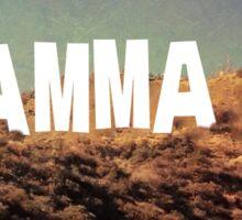 Gamma Phi Hollywood Sign Sticker