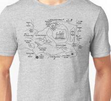 Map Of Camelot (B) Unisex T-Shirt