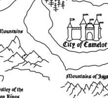 Map Of Camelot (B) Sticker