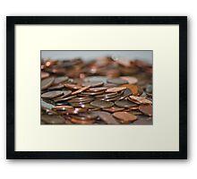 Rolling Coins Framed Print