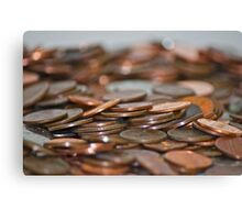 Rolling Coins Canvas Print