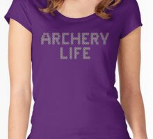 Archery life (minitargets) Women's Fitted Scoop T-Shirt