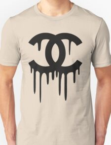 Cool Painted Chanel Logo Design T-Shirt