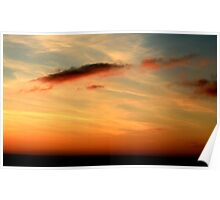 Sunset and clouds Poster