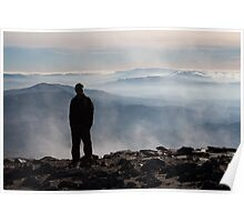 silhouetted on Snowdon Poster