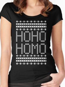 HO HO HOMO CHRISTMAS SWEATER Women's Fitted Scoop T-Shirt