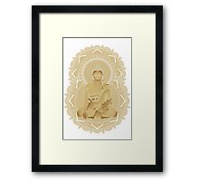 Gold buddha Framed Print