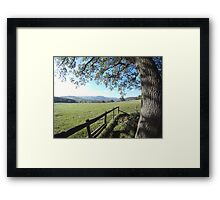 Countryside view Framed Print