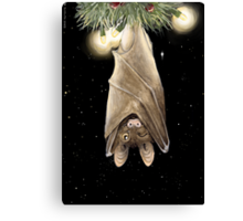 African Christmas: Bat Canvas Print