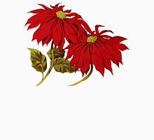 Poinsettia Flowers, Leaves - Red Green T-Shirt