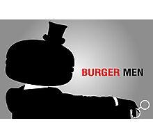Burger Men Photographic Print