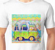 Bear On a Bus Unisex T-Shirt