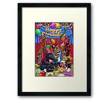animal birthday party Framed Print